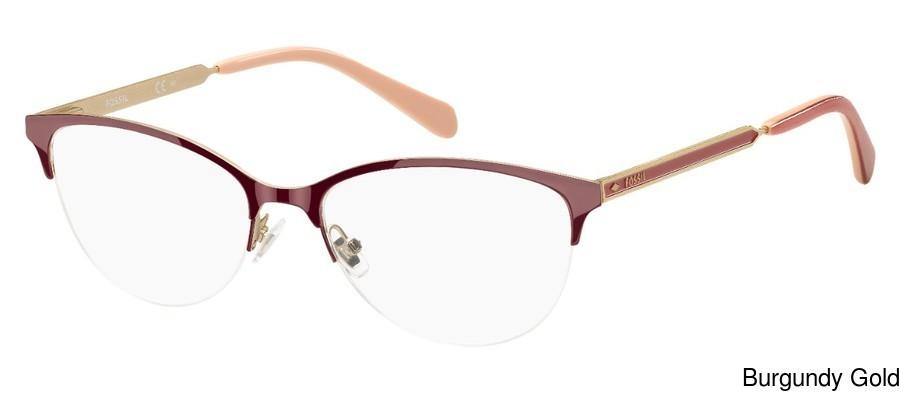 078157984e7 Buy Fossil Fos 7011 Semi Rimless   Half Frame Prescription Eyeglasses