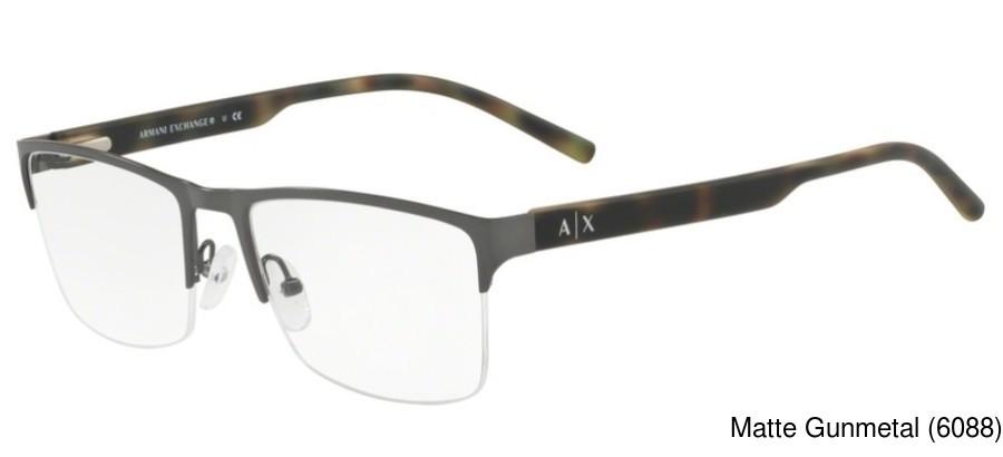 20c86e50800 Buy Armani Exchange AX1026 Semi Rimless   Half Frame Prescription ...